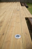 Lighting built into decking